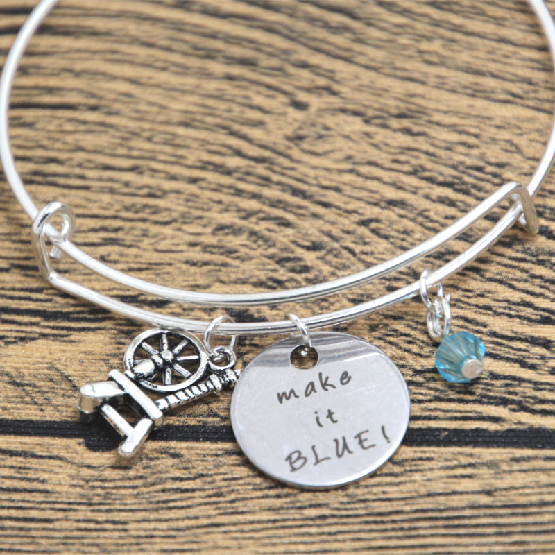 85fe58daeb2 12 pcs bela adormecida inspirado pulseira fada Merryweather boa justo Make  it azul! Prata cristais coloridos pulseiras