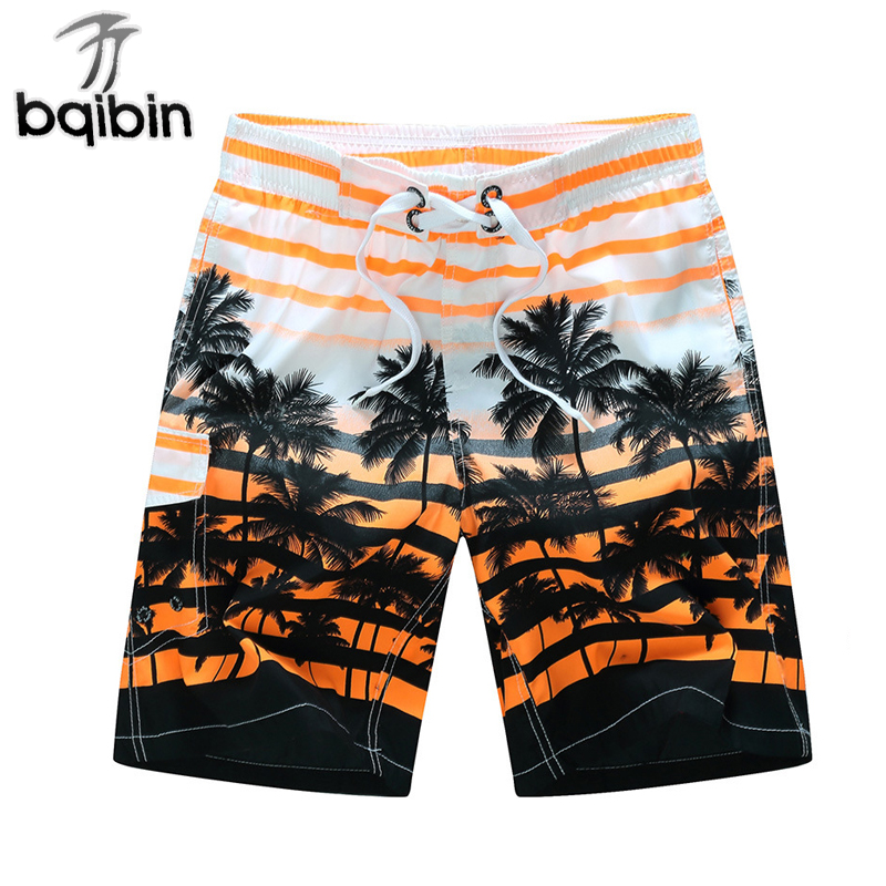 2018 Summer Men Shorts Brand Casual Clothing Coconut Trees Mens Board Shorts Comfortable Cargo Shorts M-6XL