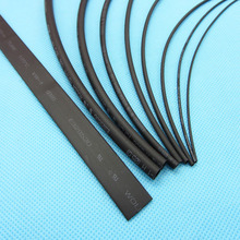 1 metros/lote Heat Shrink Tube Tubo de Color Negro 0.6mm 0.8mm 1mm 1.5mm 2mm 3mm 4mm 5mm 8mm