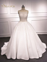 Vestido de Noiva Longo Luxury Ball Gown Wedding Dresses Crystal Pearls Wedding Gowns Plus Size Bride Dress Princess 2018