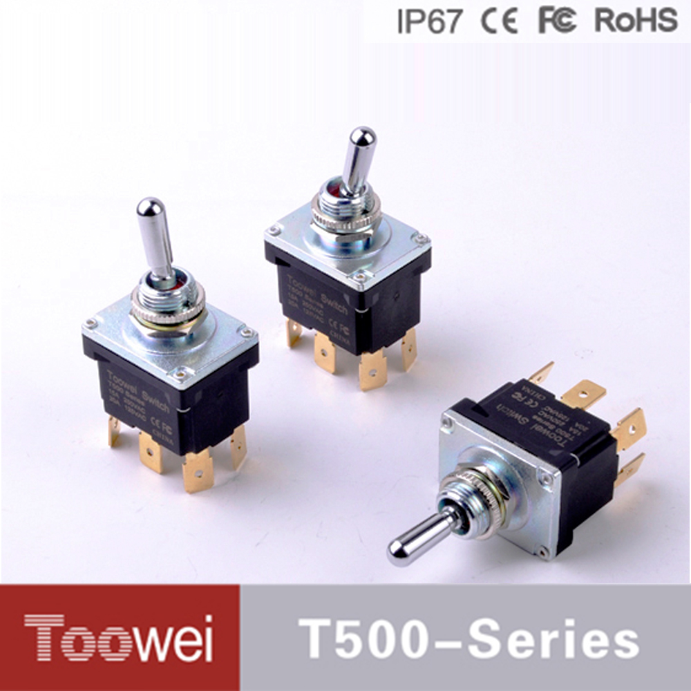 On Off Waterproof 6pin Toggle Switch 12mm 3 Way