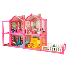 Miniature Dollhouse Toys for Children DIY Doll House with Furniture Families Dolls Gifts Box