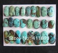25 PCS Of Natural Turquoise Cabochons,37.08g(24x13x4/15x12x4mm)