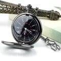 2015 Caliente de La Manera Steampunk Vintage Retro Cuarzo de La Cadena de Reloj de Bolsillo Patrón Romano