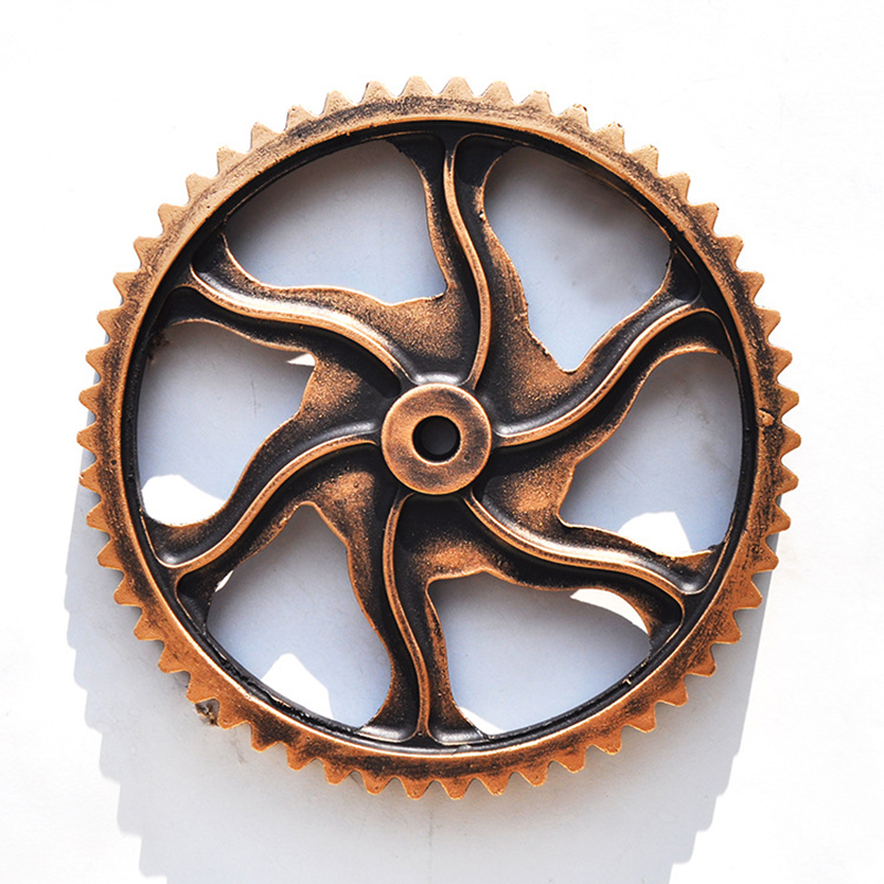 Vintage Industrial Wind Bar Office Wooden 30cm Gear Wall Thick Gear Ornaments Home Wall Ornaments Decor Accessories Wall Design