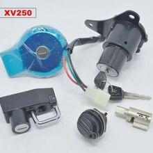 Для МОТОЦИКЛА зажигания переключатель блокировки и газа cap Крышка для Yamaha Virago XV125 XV250