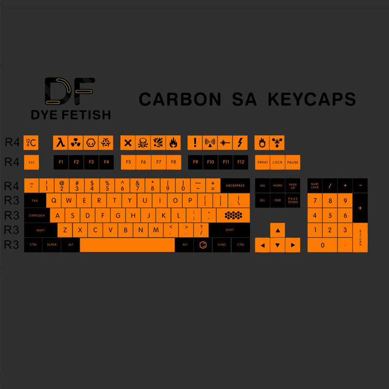 Newly Arrival Carbon 119 PBT Keycap Dye-Subbed SA Profile 104 Key ANIS Layout Augment 12 keycap For Standard Mechanical Keyboard тор thunderobot raytheon revelation механическая клавиатура k85b германия вишневый черный вал rgb фары pbt keycap ключ 104