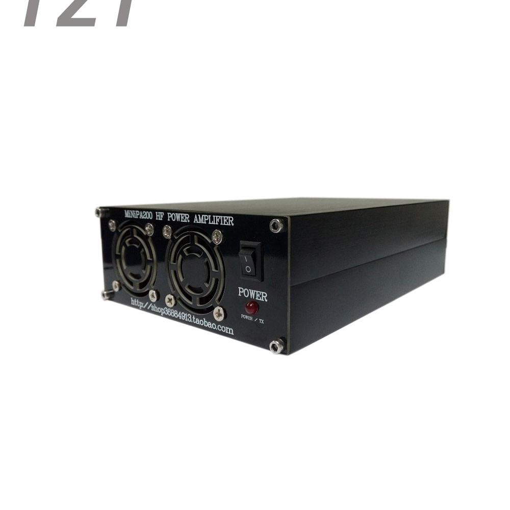 200W HF Power Amplifier Shortwave Power Amplifier/ FT-817 IC-703 Elecraft KX3 QRP PTT Control 2mhz 40mhz 50w 12 15v hf power amplifier shortwave power amplifier broadband rf amplifier