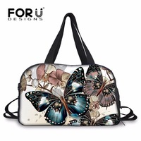FORUDESIGNS Pretty Butterfly Hand Luggage Travel Bags Multifunctional Traveling Bag Carry On Luggage Duffel Bag Large
