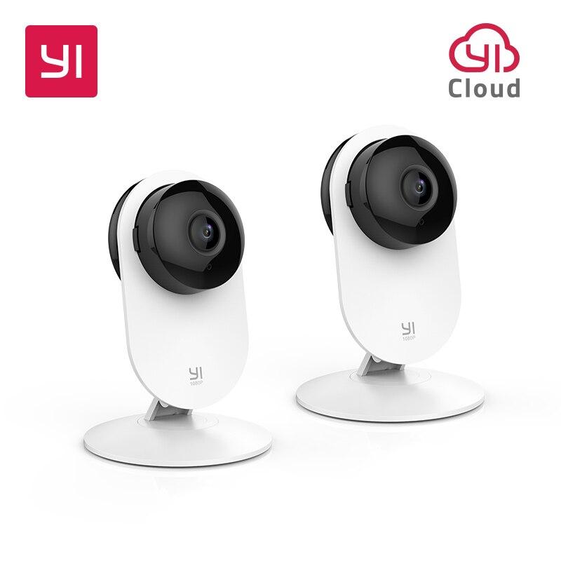 YI 2 шт. 1080 p домашняя камера Крытый Безопасности Беспроводной IP Cam системы скрытого видеонаблюдения обнаружения движения ночное видение обла...