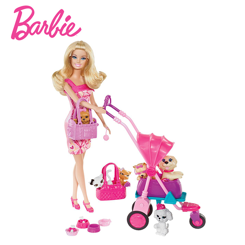 все цены на Original Barbie Doll Toys Princess Barbie House Clothes Dress Bedroom furniture Accessories Set Birthday Gifts Toys For Girls