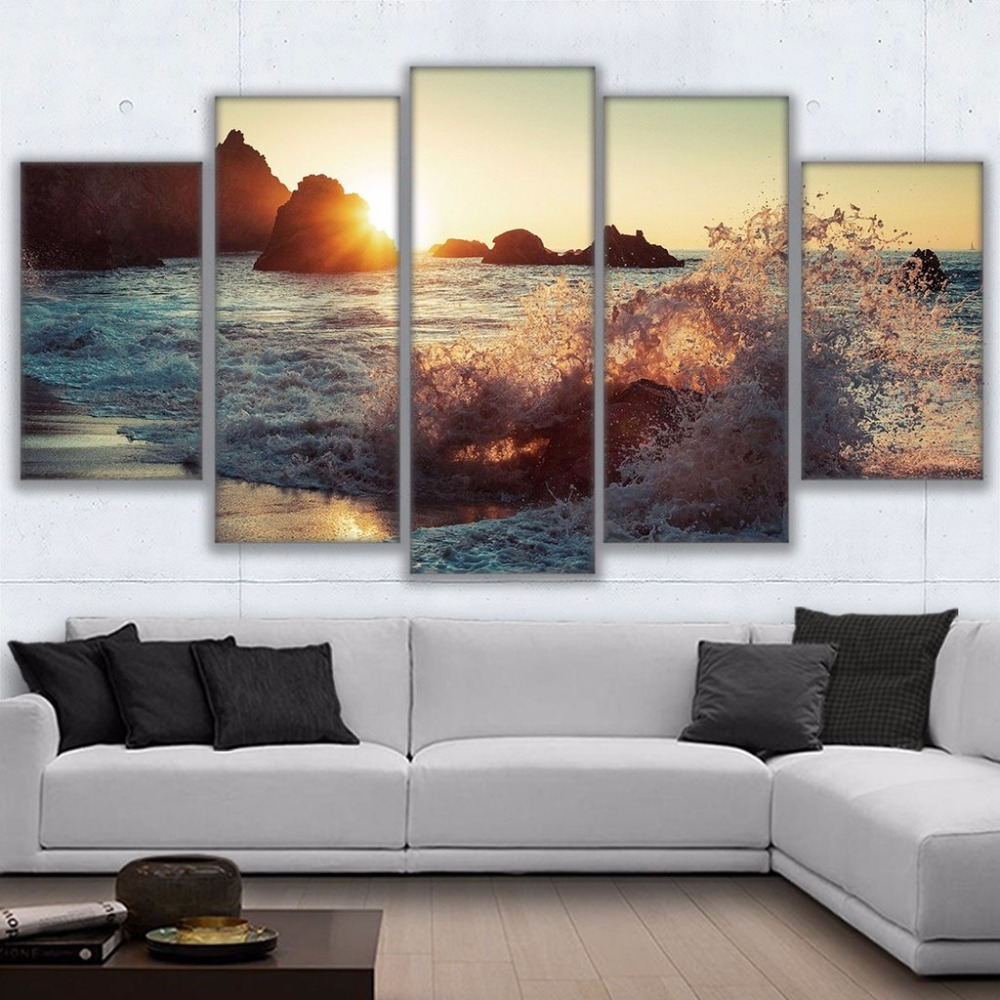 beach wall decor for living room canvas paintings wall home decor living room framework 24448