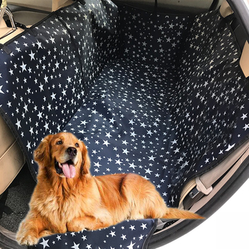 Fashion Auto Dog Back Rear Seat Bag Car Pet Seat Cover Pet Carrier Paw Pattern Waterproof Pet Mat Hammock Cushion Seat Protector
