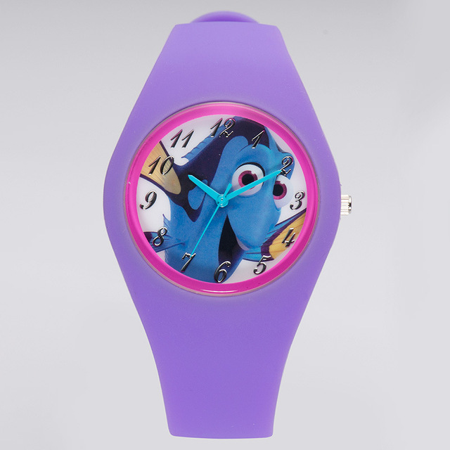 Disney brand children Wrist Watches Girls boys waterproof Quartz watch silicone  kids watches student relogio clocks