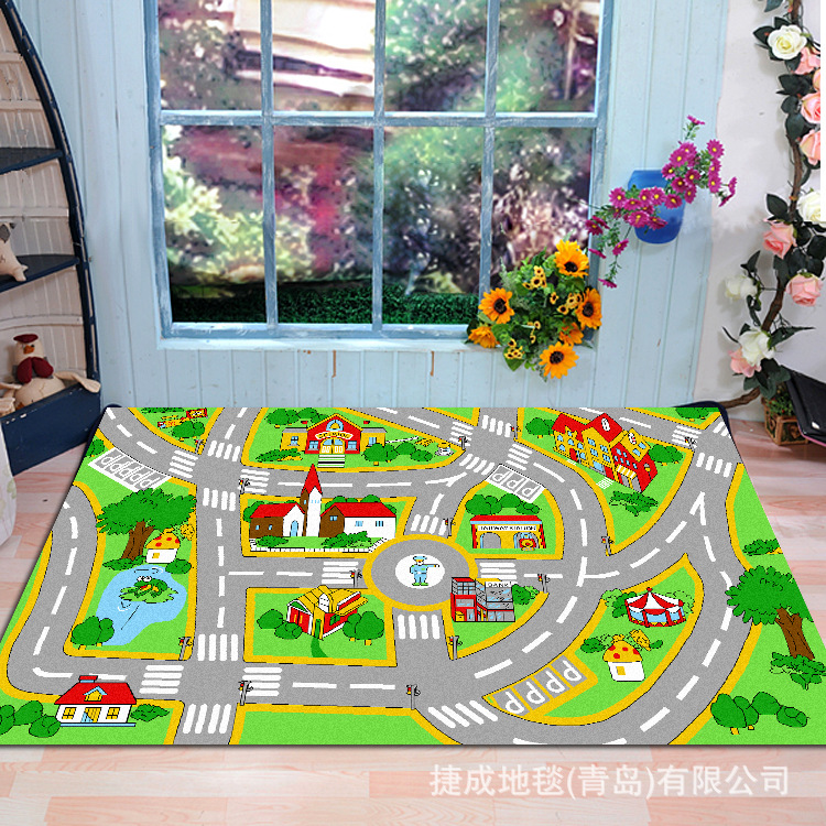 aliexpresscom buy large size thick soft slip resistant childrens car racing track game carpet living room big bedroom carpet for kids from reliable