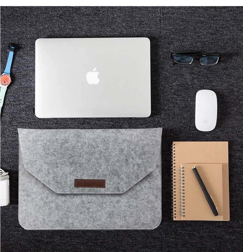 Wool Felt Laptop Sleeve Bag For Macbook Air Pro Retina 11 12 New 13 15 Touch Bar Cover For mac book Xiaomi 12.5 13.3 15.6 Case