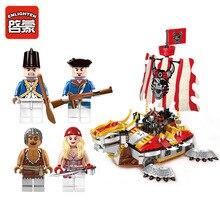 Enlighten 1312 Pirates of the Caribbean Armor Battleship Corsair Boat  Minifigure Assemble Building Block   Toys