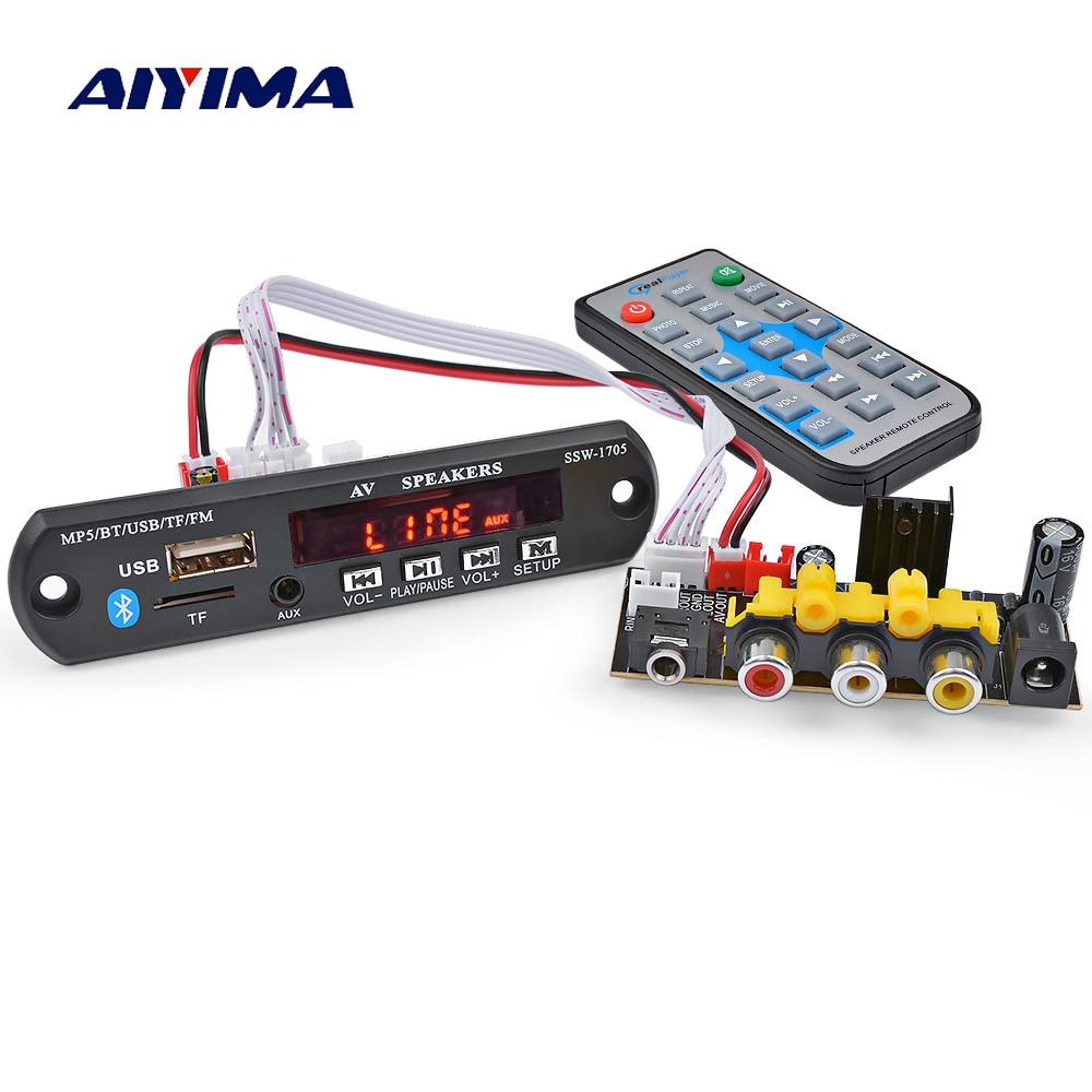 AIYIMA 5V Bluetooth 4.2 Bluetooth Decoder Audio Board HD MP5 Car Audio Decoder USB FM Aux Radio Decoding Support APP