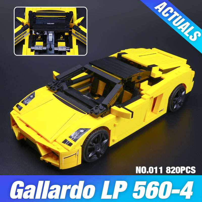 NEW 820Pcs Yile 011 Creative Technic Series The Out Of Print Lamborghiki Super Sports Car Building Blocks Bricks Toys 8169