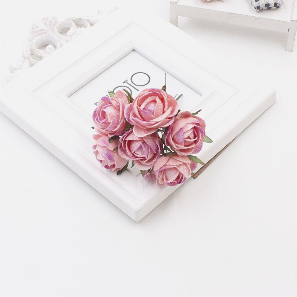 Best Seller New 30 Pcs Silk Large Rosebud Artificial Flower Bouquet
