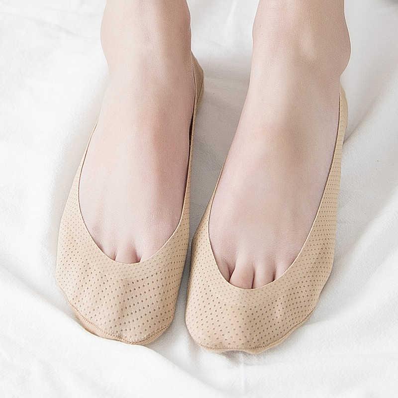 Süper Ince Dantel Kadın Çorap Serin Görünmez Çoraplar Kadın Yaz Tekne No Show Pamuk Alt 1 Çift Terlik Çorap