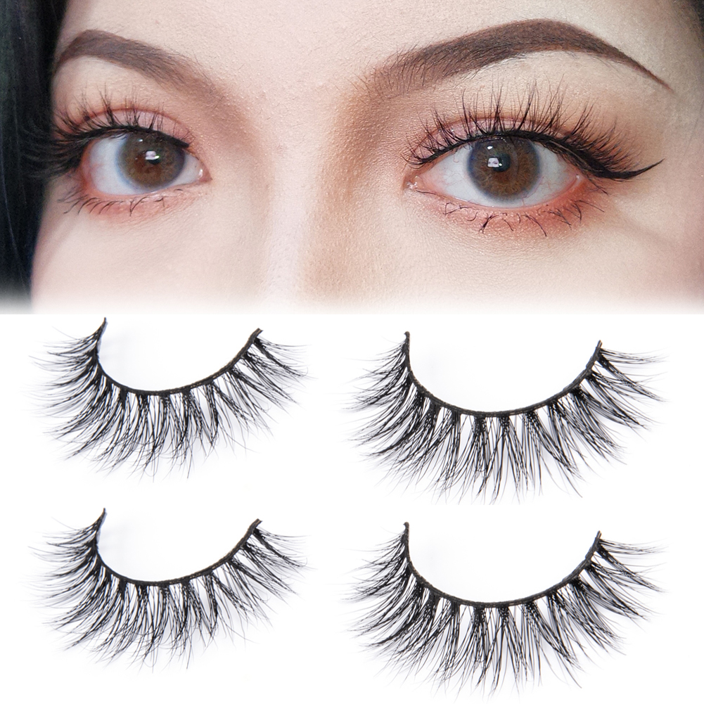 Queen 2019 Natural Mink Eyelashes 2 Pairs Fake Lashes Long Makeup 3d Mink Lashes Fashion Eye Lashes Extension For Beauty NEW