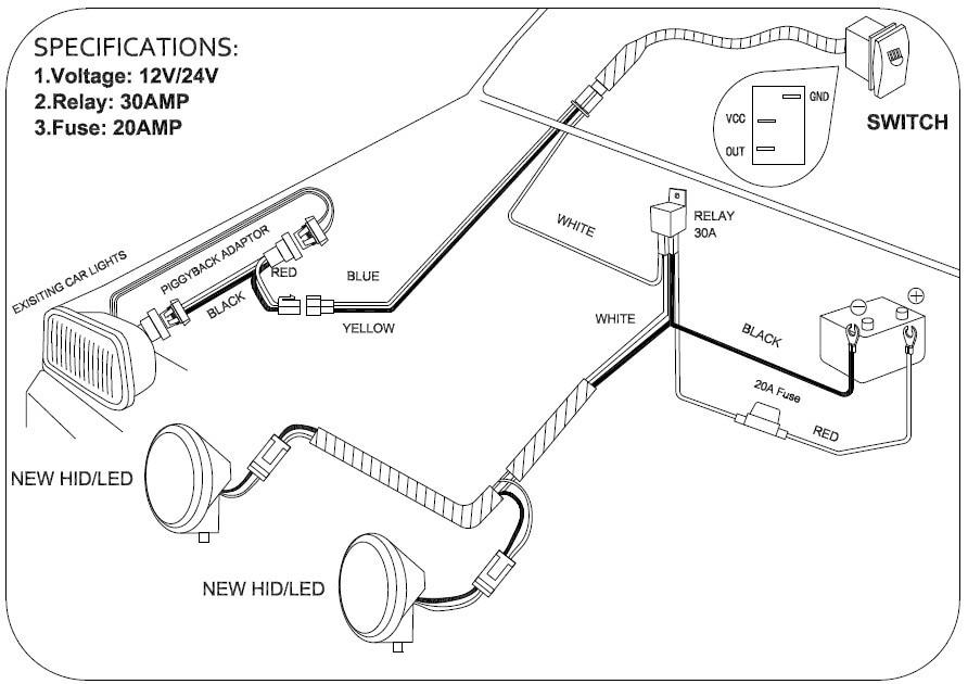 hid kc light wiring diagram block and schematic diagrams u2022 rh artbattlesu com
