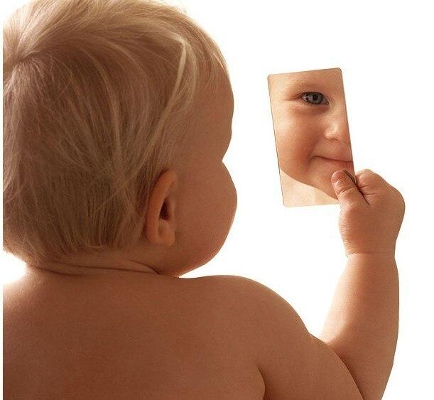 50個超薄型ミラーステンレス鋼小さな鏡simplehearted化粧鏡最高独自のロゴをすることができます