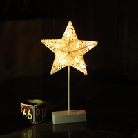 Fashion Love Heart Star LED Night Light Hollow Stars Christmas Tree Baby kids Bedside Lamp Home Decoration Valentine's Day Gift