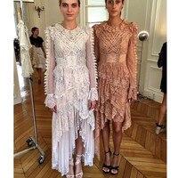 FANTFUR Австралийское роскошное подиумное кружевное платье для женщин кружевное платье бандаж в обтяжку dDrawstring нерегулярное длинное Вечерние