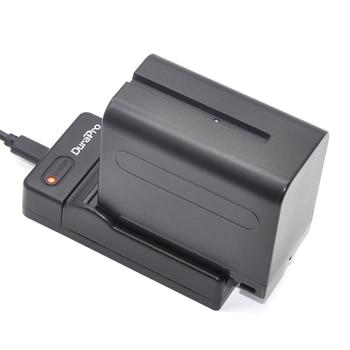 DuraPro 1 ชิ้น 7200 มิลลิแอมป์ชั่วโมง NP-F960 NP F970 F960  แบบชาร์จไฟได้แบตเตอรี่ + สายชาร์จ USB สำหรับ SONY MVC-FD90 MVC-FD91 MVC-FD92