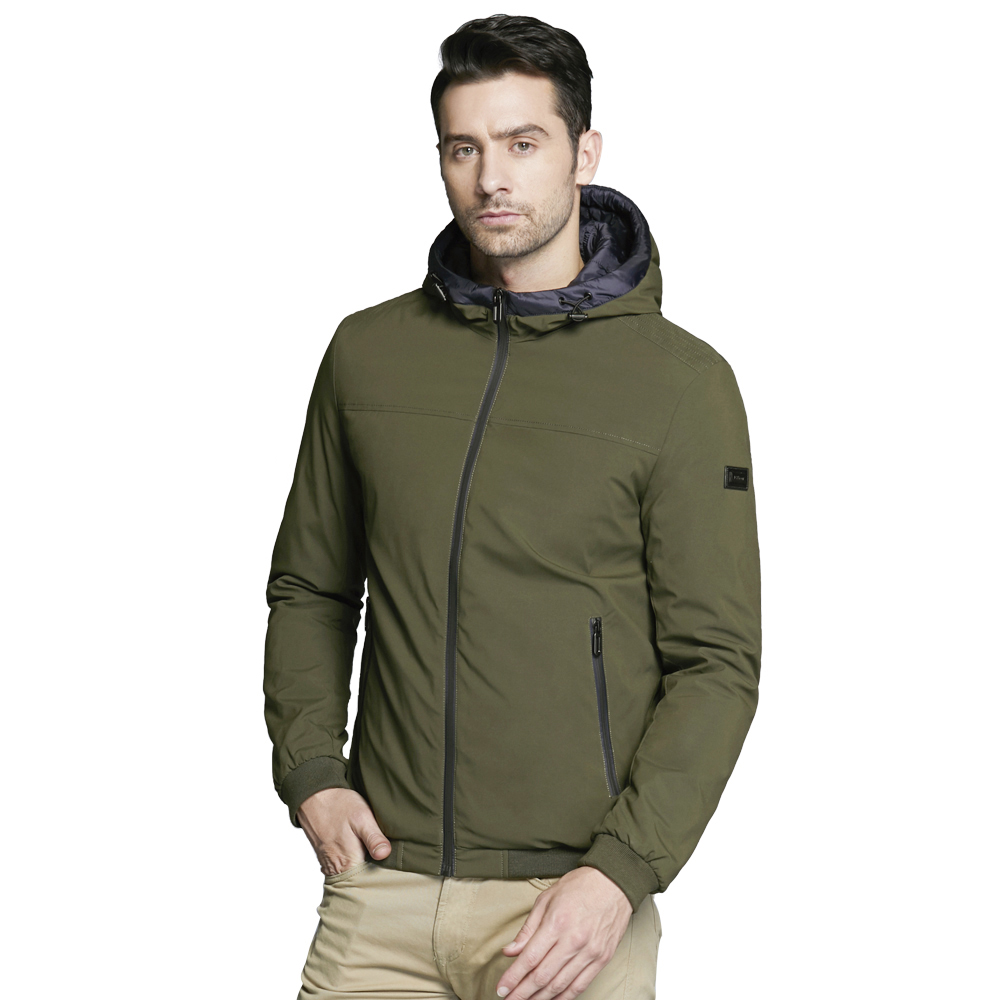 ICEbear 2018 new men's windproof thermal jacket autumnal casual man cotton padded classic fashion jacket MWC18011D winter medium long 2017 wadded jacket female camouflage plus size loose cotton padded jacket thickening thermal cotton padded