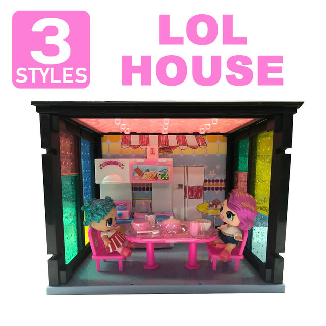 Lol House With Furniture Bathroon Laundry Room Dining Table With