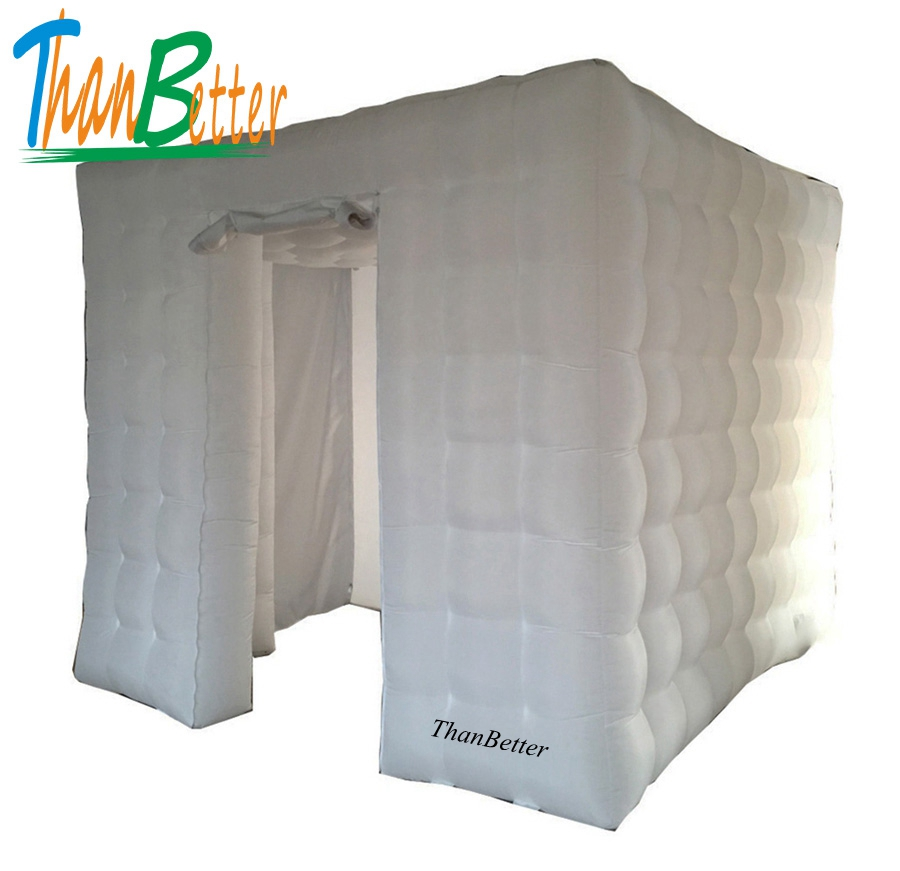 ThanBetter 2.4x2.4 cube tube LED inflatable photo booth enclosure made in China Inflatable factory for sale price