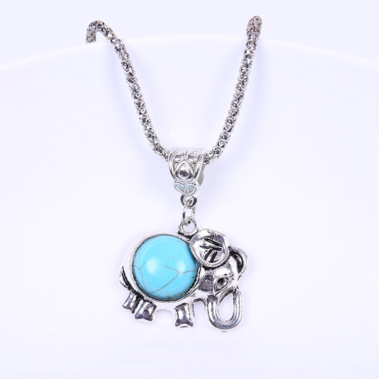 All-Matched Fashion Jewelry Elephant Design Pendant Necklace Sweater Chain Accessories 2018