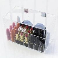 26 Grids Multifunctional Home Bedroom Lipstick Stand Case Cosmetic Makeup Tools Organizer Holder Plastic Box