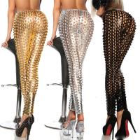 Caliente-venta 2015 mujeres de la manera de imitación de cuero legging mujer atractiva ahueca hacia fuera Leggings arriba elástico pantalones adelgazantes girlpants