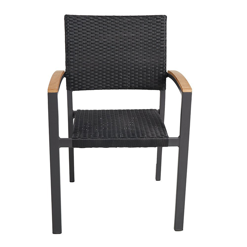 2 Pcs  Outdoor  Stackable Rattan Chairs Furniture Multi-functional Convenient Stool