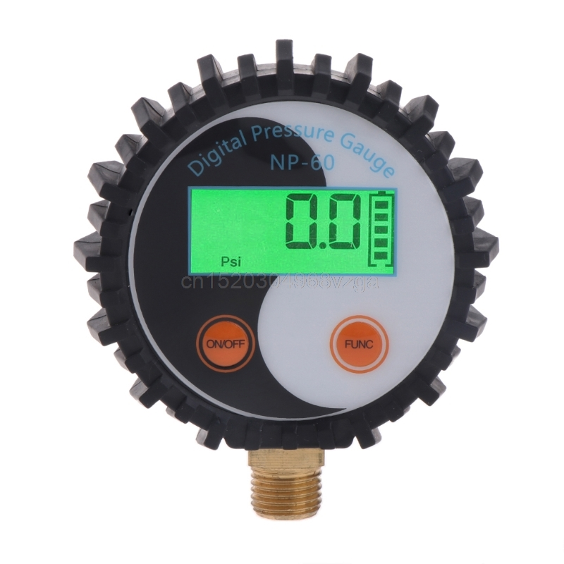 1pc battery power digital air pressure gauge gas pressure gauge tester tool 0 200psi np 60 g1 4 with vibration resistance 0-10 Bar G1/4 Battery Power Digital Gas Pressure Gauge Tester Detector 0~145psi D25 Drop shipping