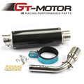 GT Motor - E-MARK Motorcycle Exhaust Mid-Pipe + Muffler for HONDA GROM MSX125 2013-2015