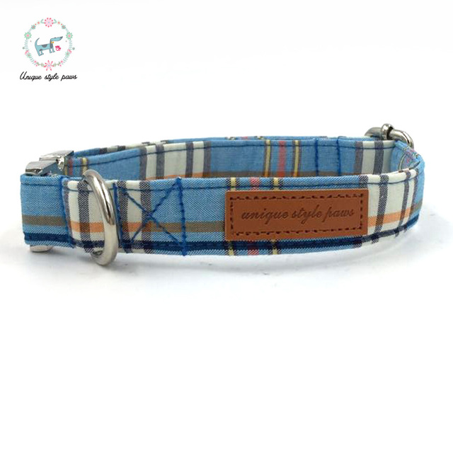Fashion Plaid Collar and Leash set with Bow Tie 4