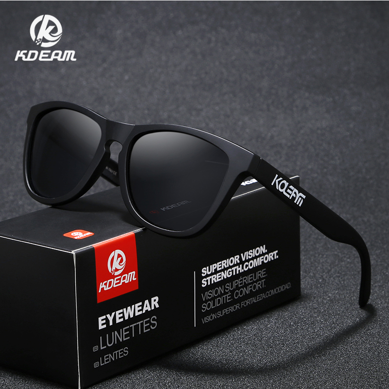 KDEAM Cool TR90 Men Sunglasses Polarized Wide-range Colors Sun Glasses Sport Luxury Unisex Frame With Collection Box KD777
