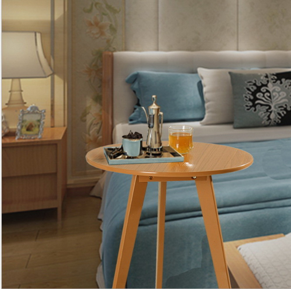все цены на Modern Design Wooden Round Side Table Minimalist Tea Table Coffee Table Living Room Sofa craft Table chair