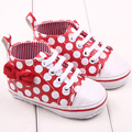 0-12 M  Chic Girl Slip-On Sneaker Toddler Kid Comfy Polka Dots Pu Leather Baby Shoes