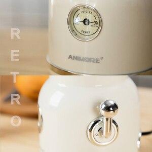 Image 2 - ANIMORE licuadora eléctrica portátil para frutas, exprimidor de alimentos para bebés, batidora, picadora de carne, máquina multifuncional Retro para hacer zumos