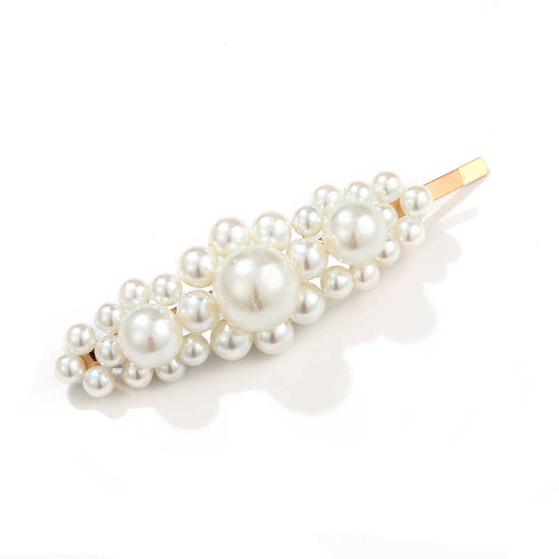 2019 Pearl Hair Accessories for woman Set hair clips Korean Delicate Handmade Elegant Pearl and minimalist Fashion for Girls