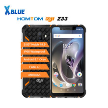 Homtom zoji z33 telemóvel robusto, mt6739 1.3ghz quard core 3gb 32gb 4600mah 5.85 duplo sim android 8.1 ota otg desbloqueio facial