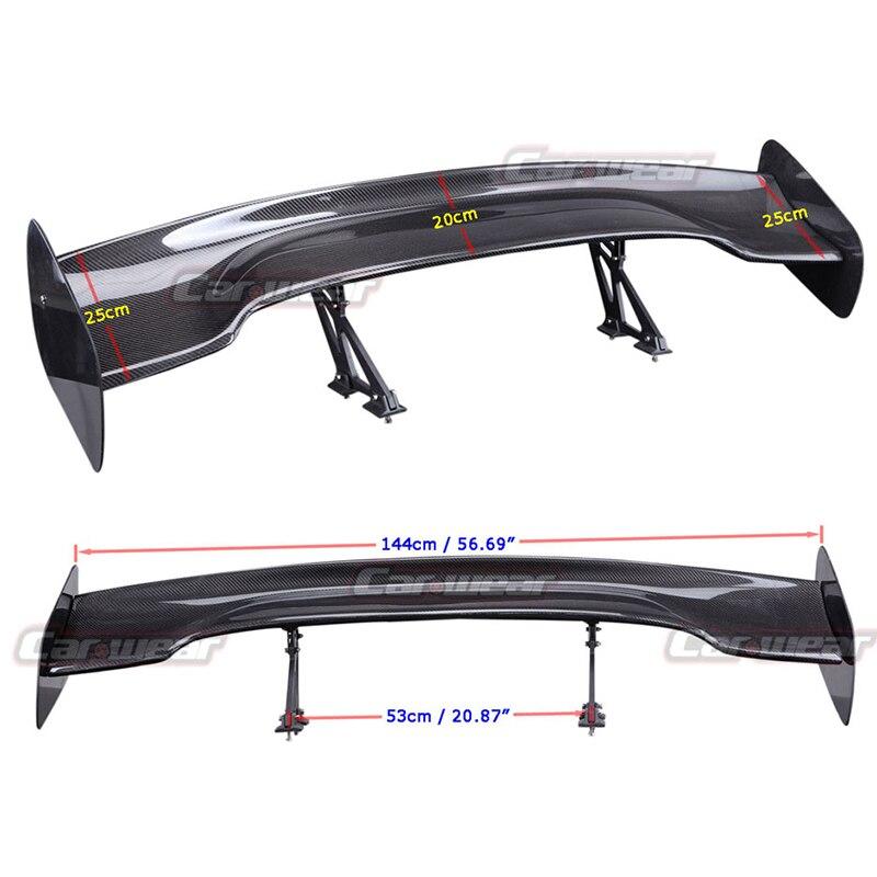 Universal Car-Styling Carbon Fiber Rear Trunk Spoiler GT Wing For BMW Audi Volkswagen Benz Toyota Nissan GT Spoiler