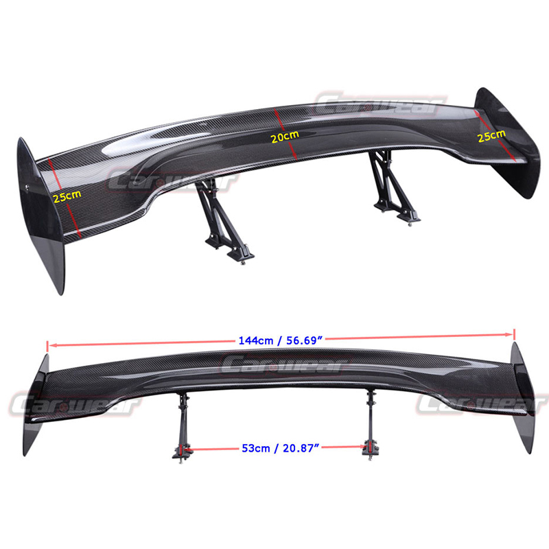 Universal Car Styling Carbon Fiber Rear Trunk Spoiler Gt