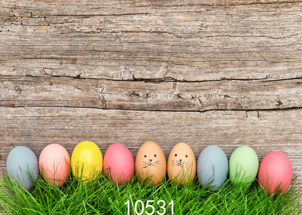 7x5ft Easter egg background Fond studio photo vinyle wood ...